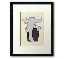 elephants wear corduroy [print] Framed Print