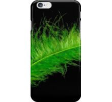 Green feather iPhone Case/Skin