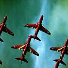 Red Arrows, Green Sky by simonsmith1