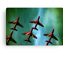 Red Arrows, Green Sky Canvas Print