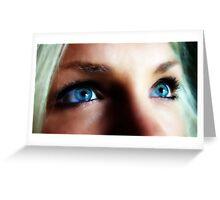 Blue Eyed Blond Greeting Card
