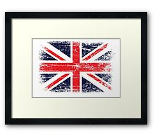 Vintage UK British Flag design Framed Print
