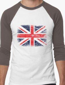 Vintage UK British Flag design Men's Baseball ¾ T-Shirt