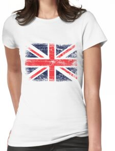 Vintage UK British Flag design Womens Fitted T-Shirt