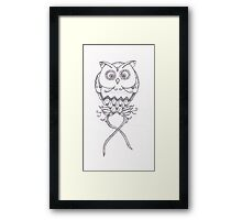 Breast Cancer Awareness Owl Framed Print