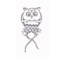 Breast Cancer Awareness Owl Photographic Print
