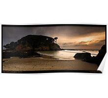 Dawn Glow on Limestone Coast Poster