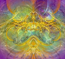 Obeisance to Nature , modern digital abstract art prints by gp-art