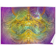 Obeisance to Nature , modern digital abstract art prints Poster