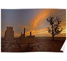 Limestone Ruins Poster