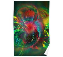 Jungle  - colorful modern digital abstract art prints  Poster
