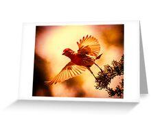 Leap Of Faith Greeting Card