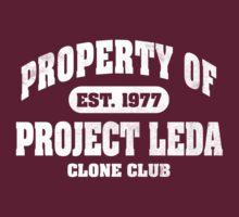 Property Of Project Leda - Clone Club (white) T-Shirt