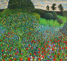 After Klimt's Garden Painting by simonsmith1