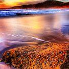 Beach at sunset by Arek Rainczuk