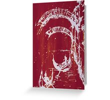 Roman Canal - Red Greeting Card