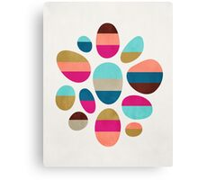 Color-Blocked Pebbles #2 Canvas Print