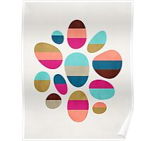 Color-Blocked Pebbles #2 Poster