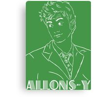 David Tennant Doctor Who Allons-Y Canvas Print