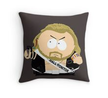 The Hall Monitor Throw Pillow