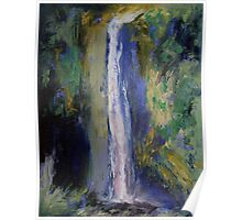 Waterfall Painting Poster