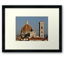 The Famous Landmark of Florence, Italy Framed Print