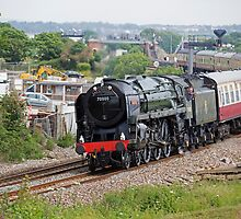 Torbay Express Britannia passes through Dawlish Warren by Keith Larby