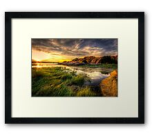 Tall Grass Sunset Framed Print