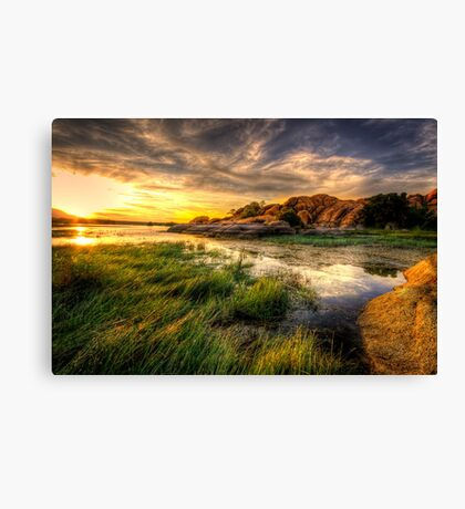 Tall Grass Sunset Canvas Print