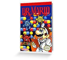 DR MARIO NES Box cover Greeting Card