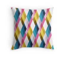 Pastel Diamonds 003 Throw Pillow