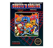 GHOST N GOBLINS NES Box cover Photographic Print