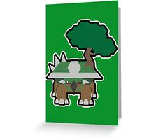 Pocket man: Earth Turtle Greeting Card