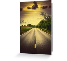 Louisiana Highway 82, an ample opportunity to see gators crossing the road Greeting Card