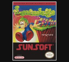 LEMMINGS NES Box cover by ruter