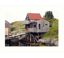 Blue Rocks Nova Scotia Art Print