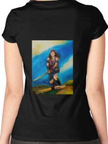 Female Warrior  Women's Fitted Scoop T-Shirt