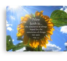 Faith Is... Canvas Print