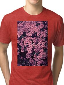 Many pink flowers Tri-blend T-Shirt
