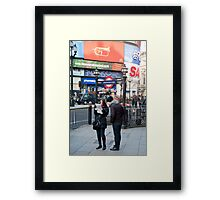 Lost in Piccadily Circus: London. UK. Framed Print