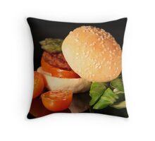 Mini Hamburger Throw Pillow