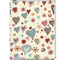 retro hearth pater iPad Case/Skin