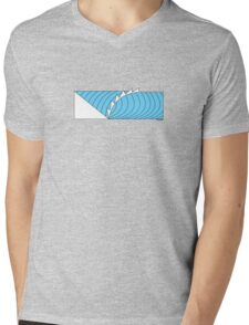 The Wave T Shirt Mens V-Neck T-Shirt