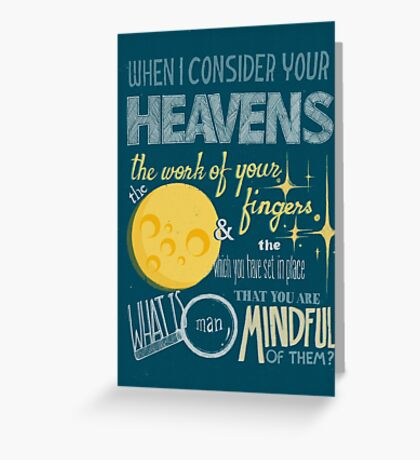 The Moon & the Stars Greeting Card