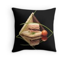 Bread Pyramid Throw Pillow