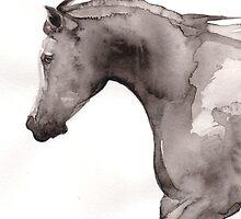 Arabian Horse in Flight by Katie Lancaster