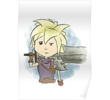 Final Fantasy VII Cloud Strife Poster