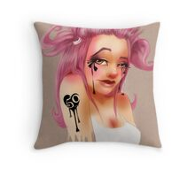 Girl 50 | Pigtails Throw Pillow