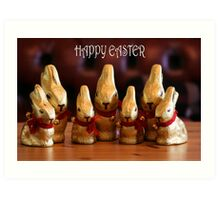 Happy Easter Bunnies Art Print
