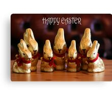 Happy Easter Bunnies Canvas Print